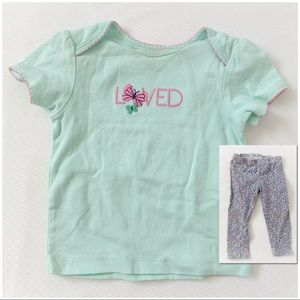 ★ CARTER'S | LOVED & BUTTERFLY EMBROIDERED TOP